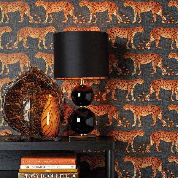 papier peint leopard walk cole and son. Black Bedroom Furniture Sets. Home Design Ideas