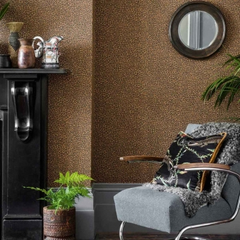 Senzo Spot Wallpaper Beige Grisé Cole and Son