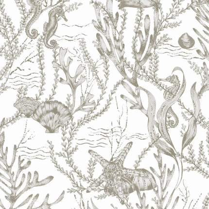 Papier Peint Seahorse Hookedonwalls Écume 70032 Hookedonwalls