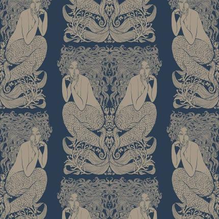 Papier Peint Mermaid Hookedonwalls Prusse/Or 70050 Hookedonwalls