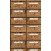 Papier peint Vintage Pharmacy Brown/White Mindthegap