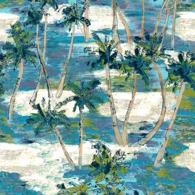 Tissu La Barbade Bleu Lalie Design