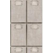 Papier peint Fabric Covers Taupe/Black/Grey Mindthegap