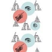 Papier peint Eyes on Me Red/Blue/White/Black Mindthegap