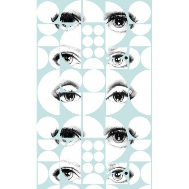 Papier peint Eyes and Circles Green/Black/White Mindthegap