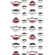 Papier peint Moustache and Lips Black/Red/White Mindthegap