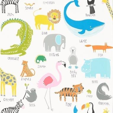 Papier peint Animal Magic Tutti Frutti/Chalk Scion