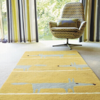 Mr Fox Mustard Rug 90x150 cm Scion