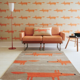 Mr Fox Cinnamon Rug 90x150 cm Scion