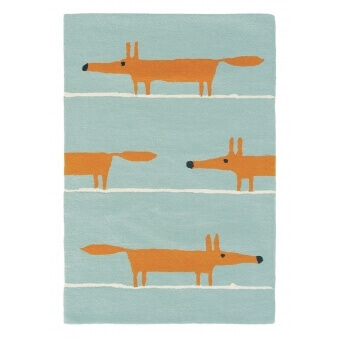 Mr Fox Aqua Rug 90x150 cm Scion