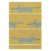 Tapis Mr Fox Mustard 90x150 cm Scion