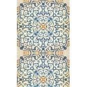 Papier peint Spanish Tile Blue/Orange Mindthegap