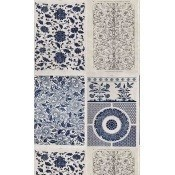 Papier peint Chinese Pattern Blue/Taupe Mindthegap