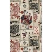 Papier peint Play Cards Red/Black/Taupe/ Blue Mindthegap