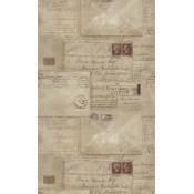 Papier peint Vintage Letters Taupe/Red Mindthegap