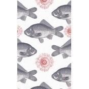 Papier peint Fish Grey/Red Mindthegap