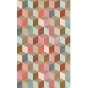 Papier peint Coloured Geometry Blue/Red/Pink/Brown Mindthegap