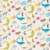 Tissu Animal Magic Tutti Frutti/Chalk Scion