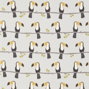 Tissu Terry Toucan Tangerine/Charcoal/Maize Scion