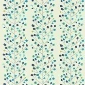 Tissu Berry Tree Peacock Powder Blue Lime and Neutral Scion