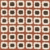 Tissu Shoji Terracotta/Chocolate Scion
