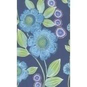 Papier peint Peony Bleu/Purple Eijffinger
