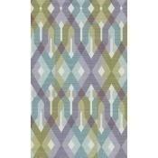 Papier peint Fence Bleu/Purple/Lilac/Green Eijffinger