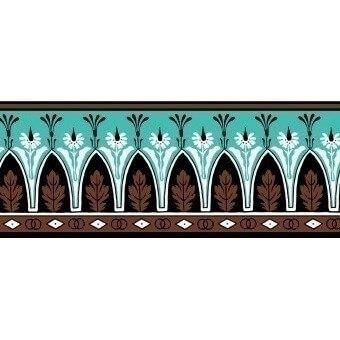Bordure Lola Montez Chocolat/Aqua Edmond Petit