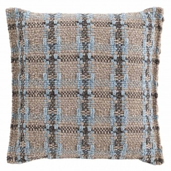 Garden Layers Checks Cushion Blue Gan Rugs