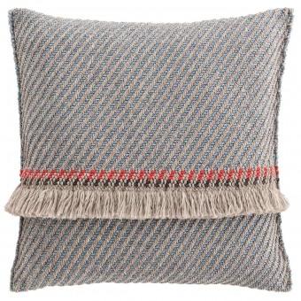 Garden Layers Diagonal Cushion Almond/Blue Gan Rugs