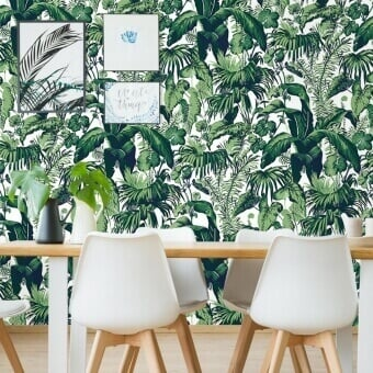 Feuillage Wallpaper Blanc Edmond Petit