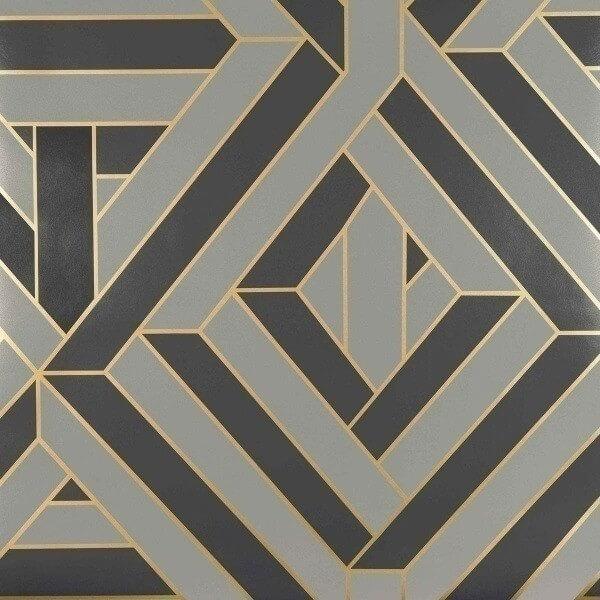 Wynwood Wallpaper Nobilis Gris Noir COS128
