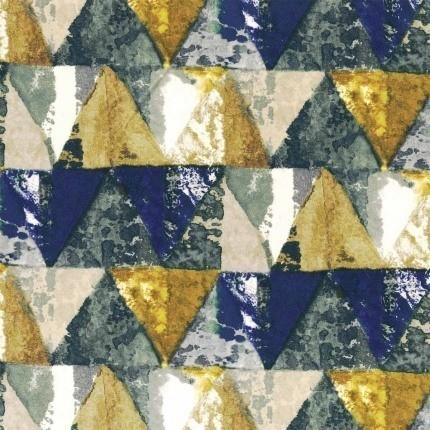 Tissu Private Casamance Bleu Klein/Jaune Or 38220371 Casamance