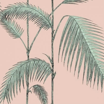Papier peint Palm Leaves Cole and Son Plaster Pink/Mint 112/2005 Cole and Son