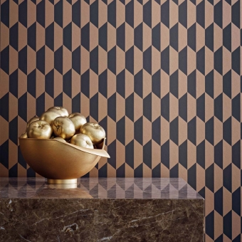 Petite Tile Wallpaper Charcoal/Bronze Cole and Son