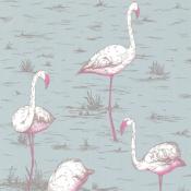 Papier peint Flamingos 1 Grège Cole and Son