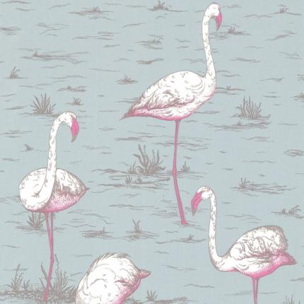 Papier peint Flamingos 1 Cole and Son Givré 66/6044 Cole and Son