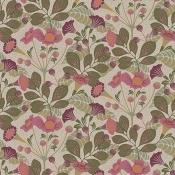 Papier peint Vildtuta Rose/Vert Borastapeter