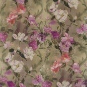 Tissu Damask Flower Damson Designers Guild