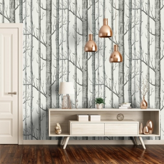 Woods Wallpaper Beige Cole and Son