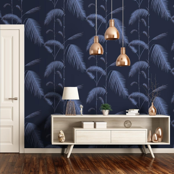 papier peint palm leaves cole and son. Black Bedroom Furniture Sets. Home Design Ideas