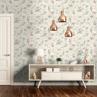 Hummingbirds Wallpaper Beige Cole and Son