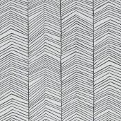 Papier peint Herringbone Black/White Ferm Living