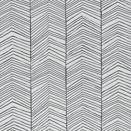 Papier peint Herringbone Ferm Living Black/White 167 Ferm Living
