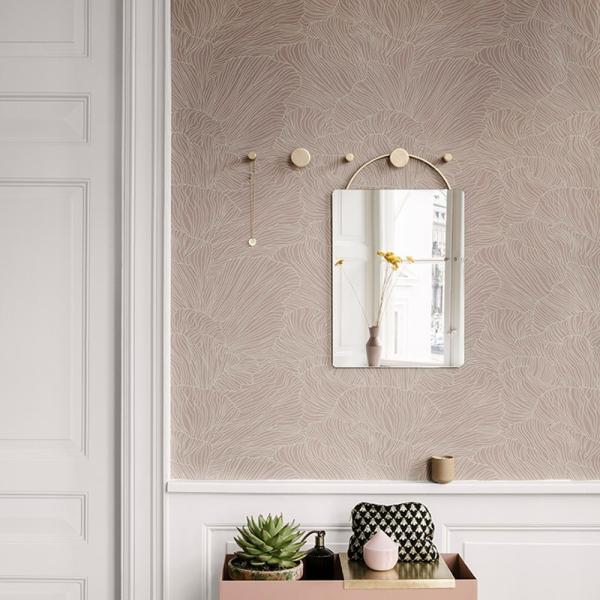 papier peint coral ferm living. Black Bedroom Furniture Sets. Home Design Ideas