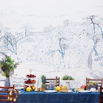 Coromandel Indigo Panel 240x280 cm - 4 lés Bien Fait