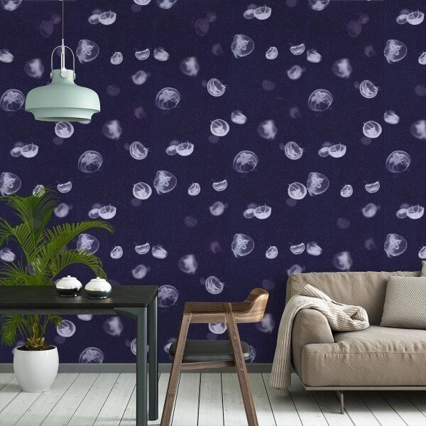 papier peint jellyfish coordonn. Black Bedroom Furniture Sets. Home Design Ideas