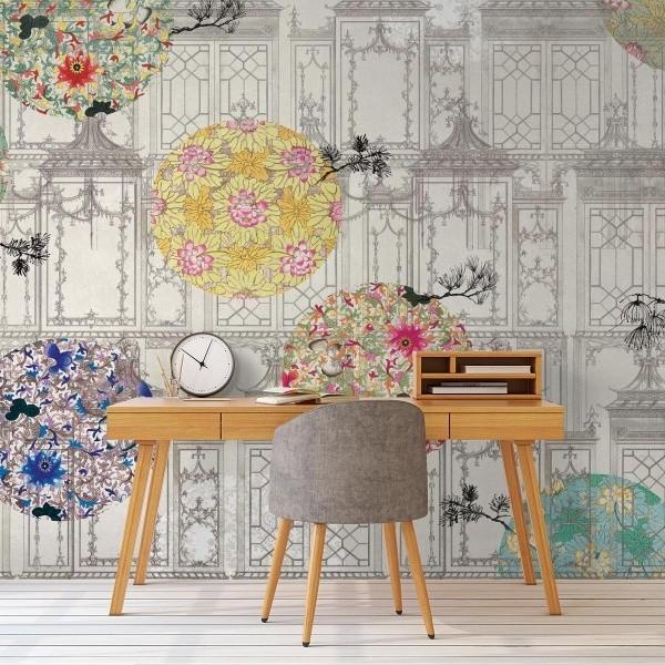 panneau damasco mural tres tintas barcelona. Black Bedroom Furniture Sets. Home Design Ideas