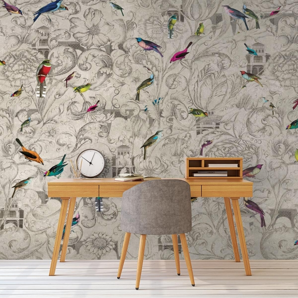 panneau kathmandu mural tres tintas barcelona. Black Bedroom Furniture Sets. Home Design Ideas