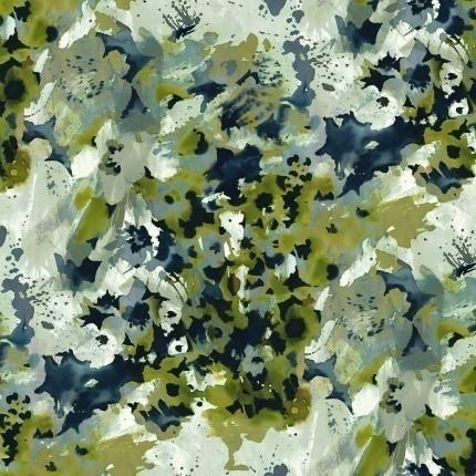 Tissu Monet Rubelli Alga Inchiostro 30162-002 Rubelli